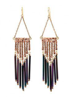 The Lyric Earrings - Copper - Earrings | Vanessa Mooney Jewelry