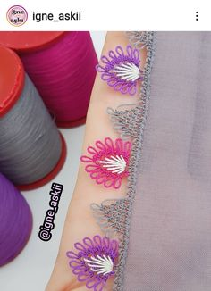 Crochet Borders, Needle Lace, Print Tattoos, Watercolor Tattoo, Eyeliner, Diy And Crafts, Needlepoint, Crochet Edgings, Eye Liner