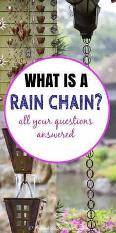 How To Make A Rain Chain, Rain Chain Diy, Rain Chains, Garden Projects, Garden Ideas, Garden Fun, Garden Crafts, Outdoor Projects, Diy Projects