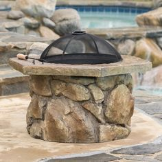 Christopher Knight Home Emmerson Outdoor Natural Stone Fire Pit