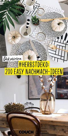 Noch keine zündende Idee für die Herbstdeko 2019?  Entdecke jetzt unsere 200 easy Nachmach-Ideen aus der Community, wie zum Beispiel von sophiagaleria und sarahvonh! Couch, Sofa, Easy, Table Decorations, Furniture, Tricks, Home Decor, Autumn, Flat