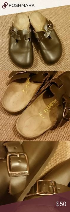 Birkenstock  brown  leather  sandals Gently worn, leather in good condition,  Sign of use insoles, Birkenstock Shoes Mules & Clogs