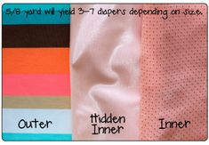 reuseable swim diapers. Use this pattern for pull up training diapers?