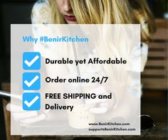 Here are just a few reasons why #BenirKitchen is a great choice. Bookmark our website so you can check our products once we go LIVE!  www.BenirKitchen.com support@BenirKitchen.com