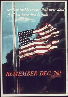 Giclee Print: Remember December In Remembrance of the Japanese Attack on Pearl Harbor, Honolulu, Hawaii by Allen Saalburg : Pearl Harbor 1941, Pearl Harbor Memorial, Pearl Harbor Day, Pearl Harbor Attack, Pearl Harbor Quotes, December 7 1941, Remember Pearl Harbor, Patriotic Posters, Original Vintage