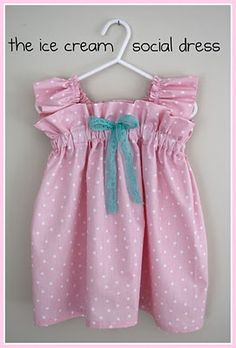 craftiness is not optional: ruffle ice cream social dress tutorial Sewing For Kids, Baby Sewing, Sewing Clothes, Diy Clothes, Dress Sewing, Dress Clothes, Barbie Clothes, Little Girl Dresses, Girls Dresses