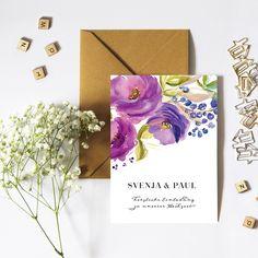 """bouquet"" Wedding Invitation by Bonjour Paper"