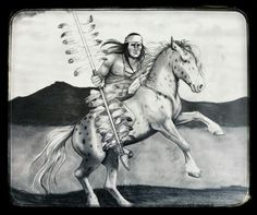 Chief Osceola and Renegade. FSU mascot, my interpretation.