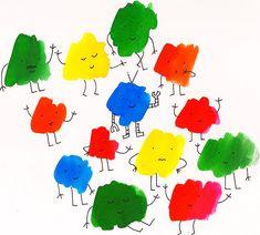 Rainbow characters