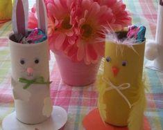 Lavoretti di Pasqua per bambini con rotoli di carta