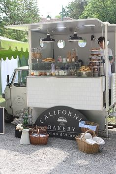 California Bakery food truck. Crisp bright design. #foodcart http://www.food-trucks-for-sale.com/ More
