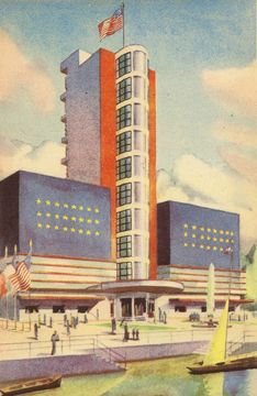 U.S.A. 1937 Expo exhibit building, Paris