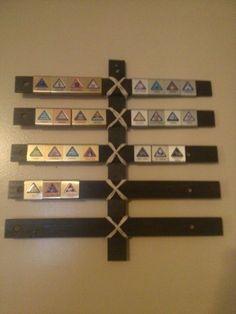 Make a Cub Scout Belt Loop Display for $1.50