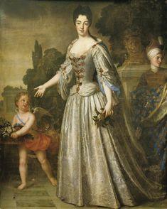 Portrait de Mme la Duchesse de Bourgogne par Santerre 195 x 115