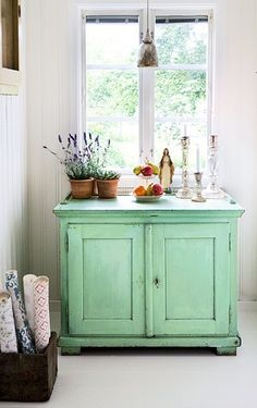 green cupboard.