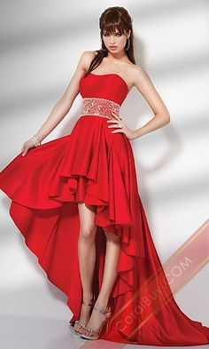 Lady in Red -- Red evening gown