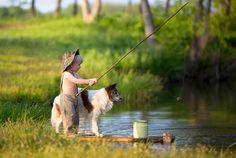 gone fishin' with my dog