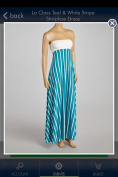 Like this strapless maxi