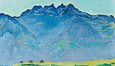 Ferdinand Hodler: Die Dents du Midi von Champéry aus (Detail), 1916, Öl auf Leinwand, 73,5 x 110 cm, Nestlé Art Collection, Foto: © Nestlé Art Collection
