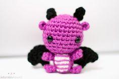 SO ADORABLE -- mini purple dragon by ~tinyowlknits on deviantART