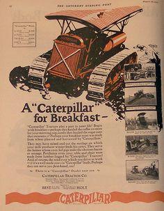 Caterpillar Tractor Ad, 1926