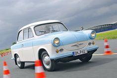 Der Trabant P50 bekam wegen Stahlknappheit eine Duroplast-Karosserie, deren Gestaltung höchst fortschrittlich war.