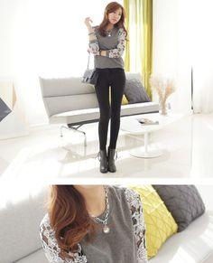 【楽天市場】フラワーレーススリーブTOPS《オルチャン》★韓国ファッション★:韓国ファッション「OLCHANG」