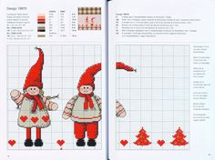 Christmas patterns.