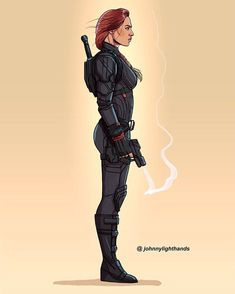 Black Widow By Johnny Lighthands Marvel Fan, Marvel Dc Comics, Marvel Heroes, Black Widow Scarlett, Black Widow Natasha, Marvel Women, Marvel Girls, Marvel Characters, Marvel Movies