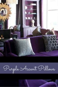 Lavender throw #pillows can make any room feel more inviting, comfortable and relaxing. Naturally so as light #purple throw pillows evoke feelings of tranquility and peace.  Moreover, lavender accent pillows look absolutely amazing in bedrooms, living rooms and the office.     Purple Accent Pillows