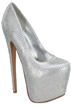SILVER HIGH HEEL PUMP PLATFORM RHINESTONE DESIGN,Women's Heels-Sexy Heels,High Heels Pumps,6 Inch Heels,High Heels Shoes,Heels and Pumps,Platform Heels,Stiletto Heel,Fashion Heels,Prom Heels,6 Inch High Heels,Party Heels At LolliCouture