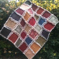 """Country Raggy Flannel Quilt, this is the quilt I made for Luke, hard to find a """"manly"""" quilt! Such a cozy warm quilt! Love it"""