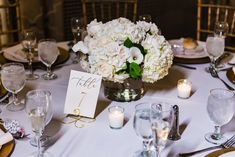 Elegant and lush white centerpiece. White Centerpiece, Floral Centerpieces, Centerpiece Ideas, Table Decorations, Geometric Wedding, Floral Wedding, Wedding Table Numbers, Lush, Floral Design