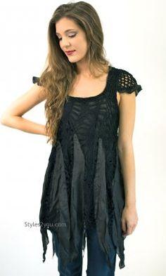 Awinita Crochet Top In Black
