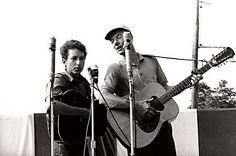 Seeger and Dylan were two that used their popularity for social change. Seeger began to change his focus from tradional folk music to songs he wrote himself to support the movement toward equality for everyone