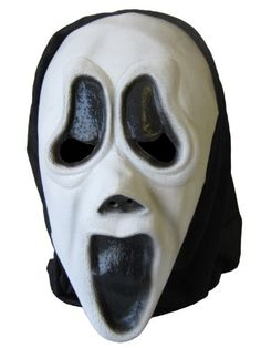 Cheadle Royal Halloween Screaming Latex Mask with Hood - http://moviemasks.co.uk/shop/cheadle-royal-halloween-screaming-latex-mask-with-hood