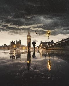 Westminster on a rainy day