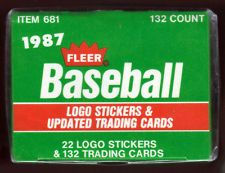 1987 Fleer Updated Baseball Factory Sealed Box  4.25