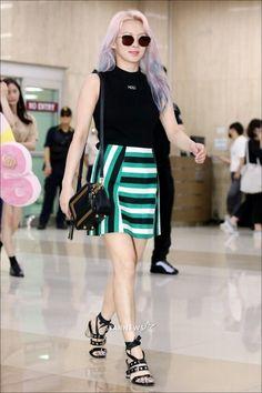 170717 Hyoyeon @ Gimpo Airport From Osaka 'Smtown Concert'