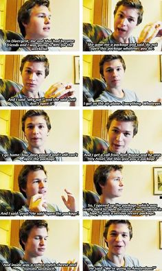 The story of how Ansel Elgort got to know he got the part of Augustus Waters in 'TFIOS Movie' aka the cutest story ever.