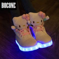 Boy Girls Shoes2019 Light Shoes Led Luminous Shoes Usb Charging Colorful Light Board Shoes Modern Design Men's Casual Shoes Shoes