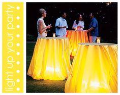 Lighting ideas if we go w/ evening hours