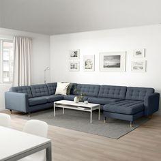 Landskrona Sofa, Pallet Ideas Easy, Ikea Family, Coastal Living Rooms, Sofa Frame, Affordable Furniture, Living Room Sofa, Sectional Sofa, Angles
