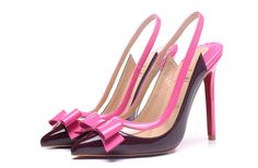 6929a4ee902e Christian Louboutin Suspenodo Sling Multi PVC Patent Leather Pointed Toe  Pumps Eveque