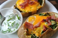 THE CANDID RD: Clean Eating's Egg 'n' Baked Potatoes (Almost Meatless Monday)