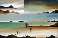 NZ Coastal art with a Maori Heritage influence. These coastal landscapes are worked in oil on canvas, paper or linen often with torn edges depicting the rugged nz coast. View at his Nelson gallery or online. New Zealand Landscape, Coastal Art, Painters, Oil On Canvas, Art Gallery, Waves, Strong, Contemporary, Artist