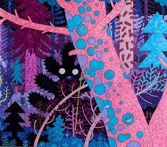 Purple forest on Behance