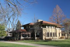 Robert Mueller House. Decatur, Illinois. 1910 Marion Mahony and Hermann von Holst. Prairie Style. An outstanding commission when Frank Lloyd Wright left his practice to work on the Wasmuth portfolio in 1909.