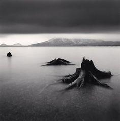 Michael Kenna - Artistic Black & White Photography - Tree Remains, Bifue, Hokkaido, Japan, 2004