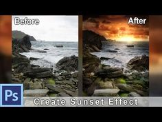 (5) How to Create a Sunset Effect in Photoshop - Example: Irish Sunset | Photoshop Tutorial - YouTube